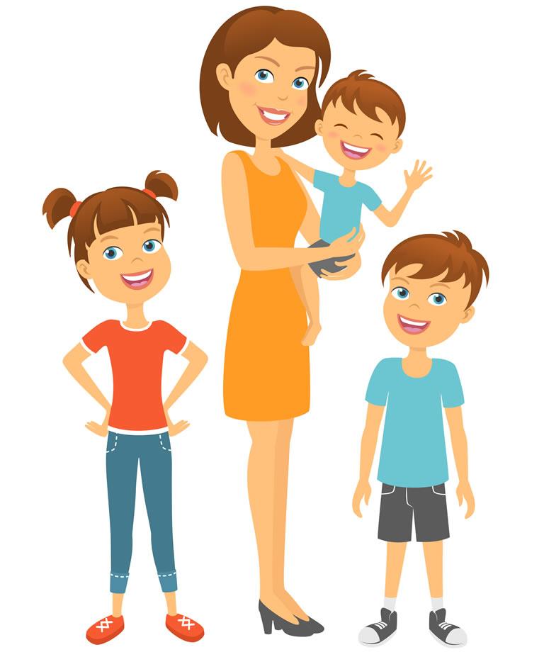 mother-kids-happy-family-children